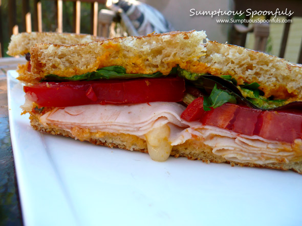 Turkey Tomato Roasted Red Pepper Sandwich