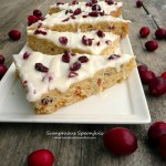 Copycat Starbucks Cranberry Bliss Bars ~ Sumptuous Spoonfuls #holiday #cookie #recipe