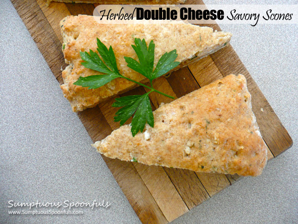 Herbed Double Cheese Savory Scones