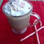 Skinny Peppermint Mocha Latte ~ Sumptuous Spoonfuls #healthy #coffee