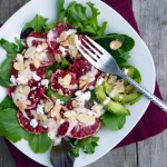 Blood Orange & Avocado Salad with Spiced Honey Yogurt Dressing ~ Sumptuous Spoonfuls #healthy #salad #recipe