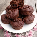 Double Chocolate Raspberry Quinoa Muffins ~ Sumptuous Spoonfuls #quinoa #recipe