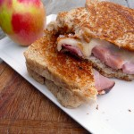 Grilled Sundried Tomato Ham & Fontina Cheese Sandwich ~ Sumptuous Spoonfuls #sandwich #recipe