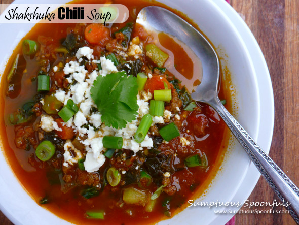 Shakshuka Chili Soup ~ Sumptuous Spoonfuls #soup #recipe
