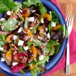 Cranberry Bacon Pecan Goat Cheese Salad ~ Sumptuous Spoonfuls #Salad #Recipe