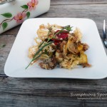 Tarragon Sunflower Roasted Vegetables ~ Sumptuous Spoonfuls #sides #recipe