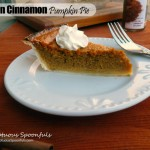 Simple Ceylon Cinnamon Pumpkin Pie ~ Sumptuous Spoonfuls #pumpkin #pie #recipe
