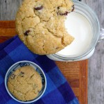Gluten Free Crunchewy Chocolate Chip Cookies ~ Sumptuous Spoonfuls #glutenfree #cookie #recipe