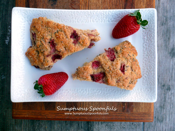 Whole Wheat Strawberry Poppy Seed Scones