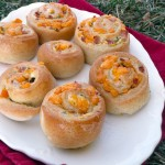 Ham, Cheese & Chive Cresent Pinwheels ~ Sumptuous Spoonfuls #portable #sandwich #recipe