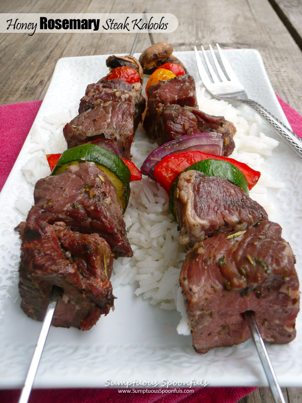 Honey Rosemary Steak Kabobs