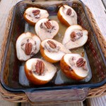 Roasted Pears with Maple Nut Mascarpone Filling ~ Sumptuous Spoonfuls #light #dessert #recipe