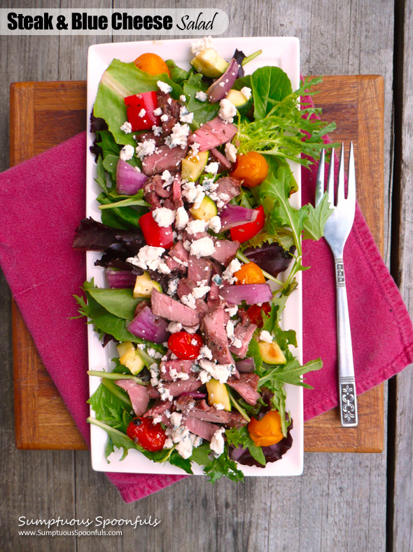 Steak & Blue Cheese Salad with Roasted Vegetables