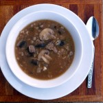 Steak & Mushroom Barley Soup ~ Sumptuous Spoonfuls #soup #recipe