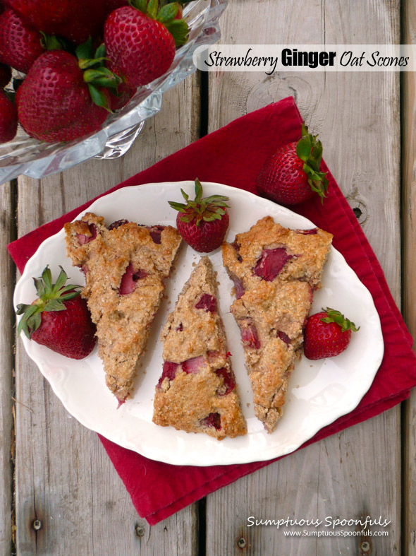 Strawberry Ginger Oat Scones