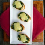 Cheesy Crab & Spinach Crostini ~ Sumptuous Spoonfuls #little #toasts #appetizer #recipe #seafood