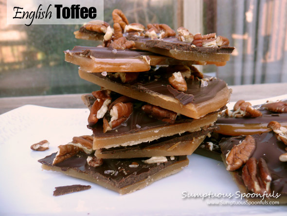 English Toffee ~ Sumptuous Spoonfuls #homemade #candy #recipe