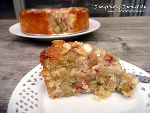 Rhubarb Almond Cake Gluten Free Sumptuous Spoonfuls