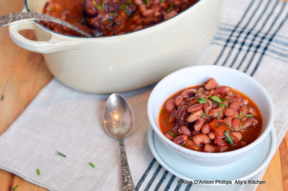 Spicy Anasazi Beans - Ally's Kitchen