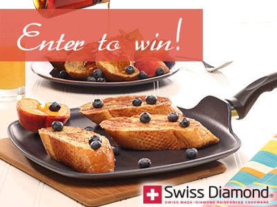 Swiss Diamond Cookware Giveaway! Hurry, ends July 1! Win $100 gift card