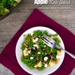Sweet Cranberry Apple Kale Salad with Ginger, Walnuts & Goat Cheese ~ Sumptuous Spoonfuls #kale #salad #recipe