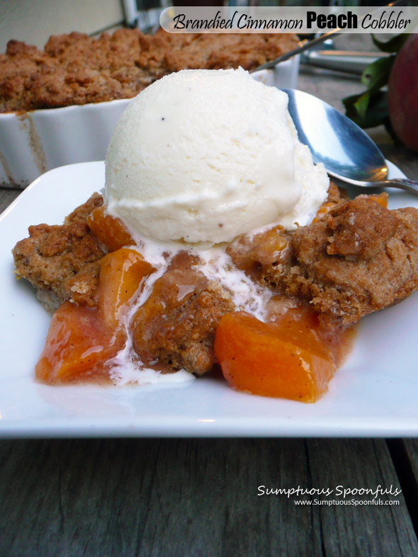 Brandied Cinnamon Peach Cobbler