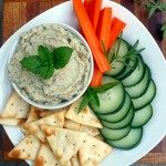 Fire Roasted Mixed Herb Baba Ganoush ~ Sumptuous Spoonfuls #garlic #tahini Middle Eastern #dip #recipe