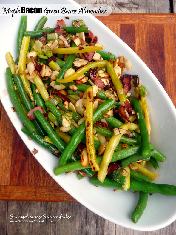 Maple Bacon Green Beans Almondine