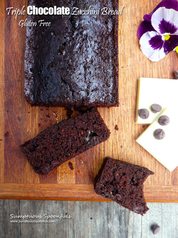 Gluten Free Triple Chocolate Zucchini Bread