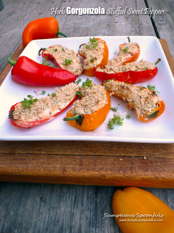 Herb Gorgonzola Stuffed Sweet Peppers