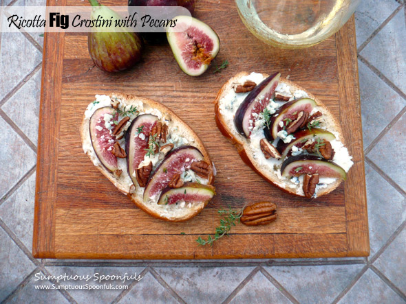 Ricotta Fig Crostini with Pecans & Gorgonzola
