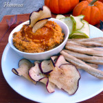 Sweet Maple Pumpkin Spice Hummus ~ Sumptuous Spoonfuls #sweet #autumn #hummus #recipe