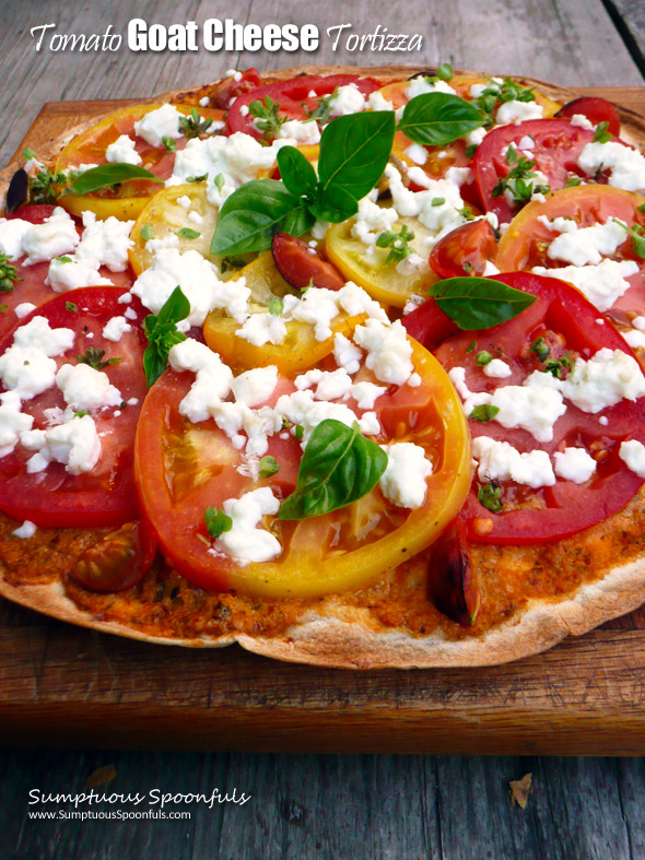 Tomato Goat Cheese Tortizza