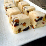 Cherry Pistachio Irish Cream Fudge ~ Sumptuous Spoonfuls #easy #white #fudge #recipe