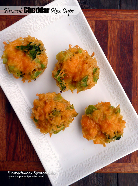 Broccoli Cheddar Rice Cups