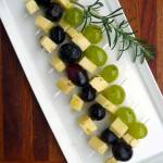 Rosemary Fontina Grape Skewers ~ Sumptuous Spoonfuls #marinated #cheese #appetizer #recipe