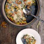 Spinach & Sausage Strata ~ Sumptuous Spoonfuls #easy #dinner #recipe