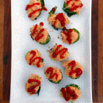 Sriracha Brussels Sprouts Poppers ~ Sumptuous Spoonfuls #healthy #hot #appetizer #recipe