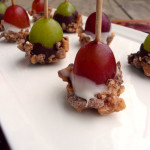 Toffee Grapes ~ Sumptuous Spoonfuls #holiday #dessert #snack #appetizer #recipe