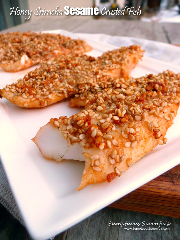 Honey Sriracha Sesame Crusted Fish