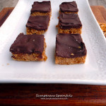 Peanut Butter Apricot Bars ~ Sumptuous Spoonfuls #chocolate #pb&j #light #dessert #recipe