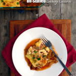 Un-Stuffed Cabbage Casserole ~ Sumptuous Spoonfuls #beefy #cabbageroll #casserole #recipe