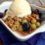 Blueberry Gooseberry Oat Crumble ~ Sumptuous Spoonfuls#healthy #breakfast #berry #dessert #recipe
