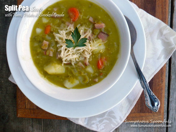 Split Pea Soup with Ham, Potato & Smoked Gouda