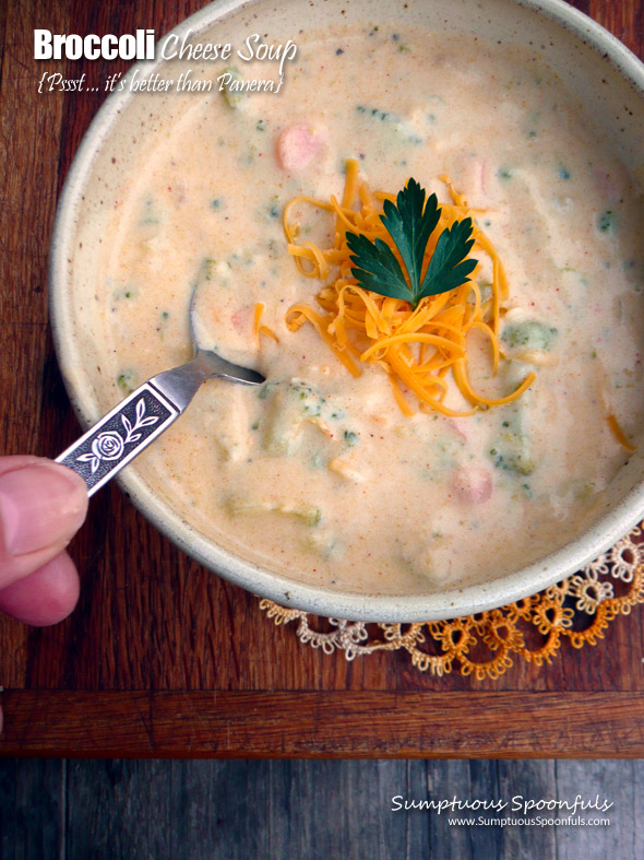Better than Panera (copycat) Broccoli Cheese Soup
