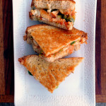 Buffalo Chicken & Broccoli Grilled Cheese Sandwich ~ Sumptuous Spoonfuls #quick #spicy #GrilledCheese #sandwich #recipe