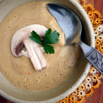 Creamy Mushroom Soup ~ Sumptuous Spoonfuls #easy #soup #recipe