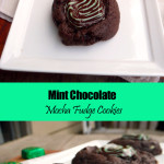 Mint Chocolate Mocha Fudge Cookies ~ Sumptuous Spoonfuls #decadent #lowfat #chocolate #mint #cookie #recipe