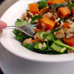 Sweet Potato & Brown Rice Salad ~ Sumptous Spoonfuls #hearty #vegetarian #salad #recipe
