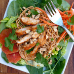 Thai Peanut Noodle Salad with Chicken ~ Sumptuous Spoonfuls #Asian #chicken #noodle #salad #recipe
